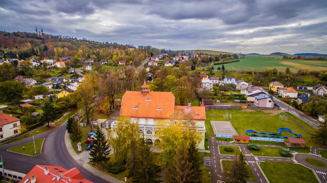 záběr z dronu + pumptrack