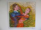 Ples - předtančení (akryl, 2010)