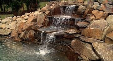 vodopády, potůčky