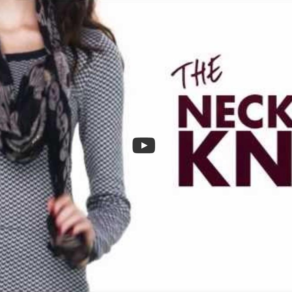 c251e9939ba 9 způsobů jak stylově uvázat šátek - šálu - Jak uvázat šátek - šátky ...