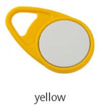 Bezkontaktní přívěsek TEARDROP - žlutý