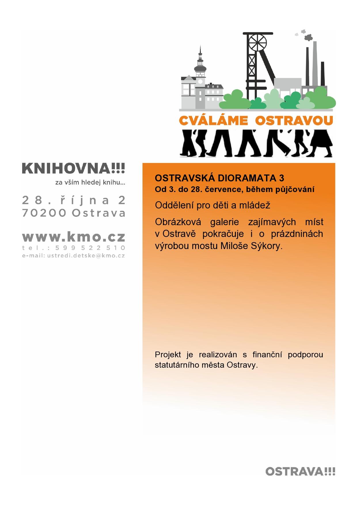 OSTRAVSKÁ DIORAMATA 3 Obrázková galerie zajímavých míst v Ostravě pokračuje i o prázdninách výrobou mostu Miloše Sýkory Projekt je realizován s finanční podporou statutárního města Ostravy.