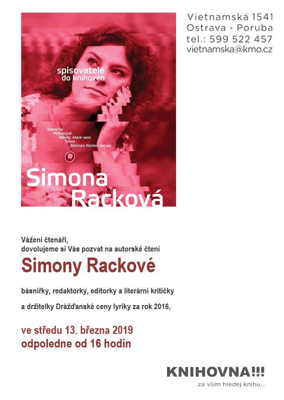 Simona Racková - Spisovatelé do knihoven