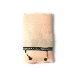 šátky na krk roura nekonečné rovné se vzorem jednobarevné 1598-2 (1)