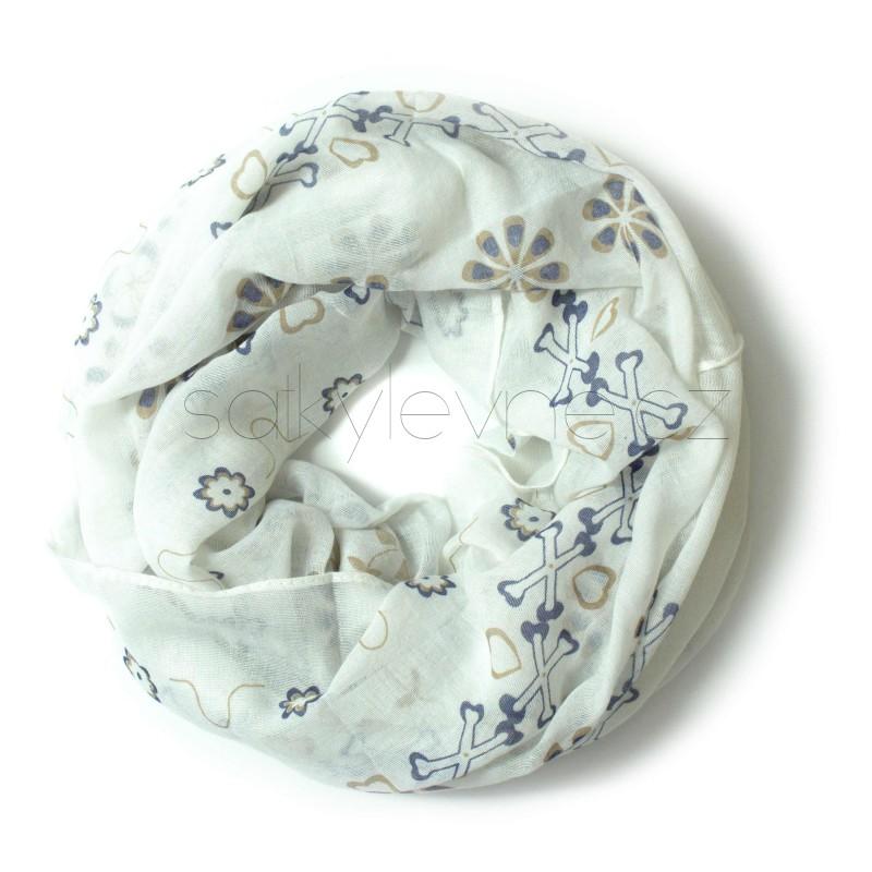 XL šátek barevný se vzorem | ROURA 3A3 | 1621