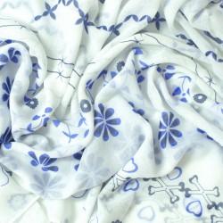 šátky na krk roura nekonečné rovné se vzorem jednobarevné 1627-1 (1)