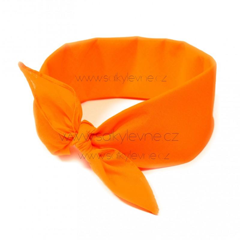 šátek do vlasů bandana jednobarevný 1967 (1)