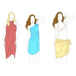 jak nosit šátek přes plavky pareo
