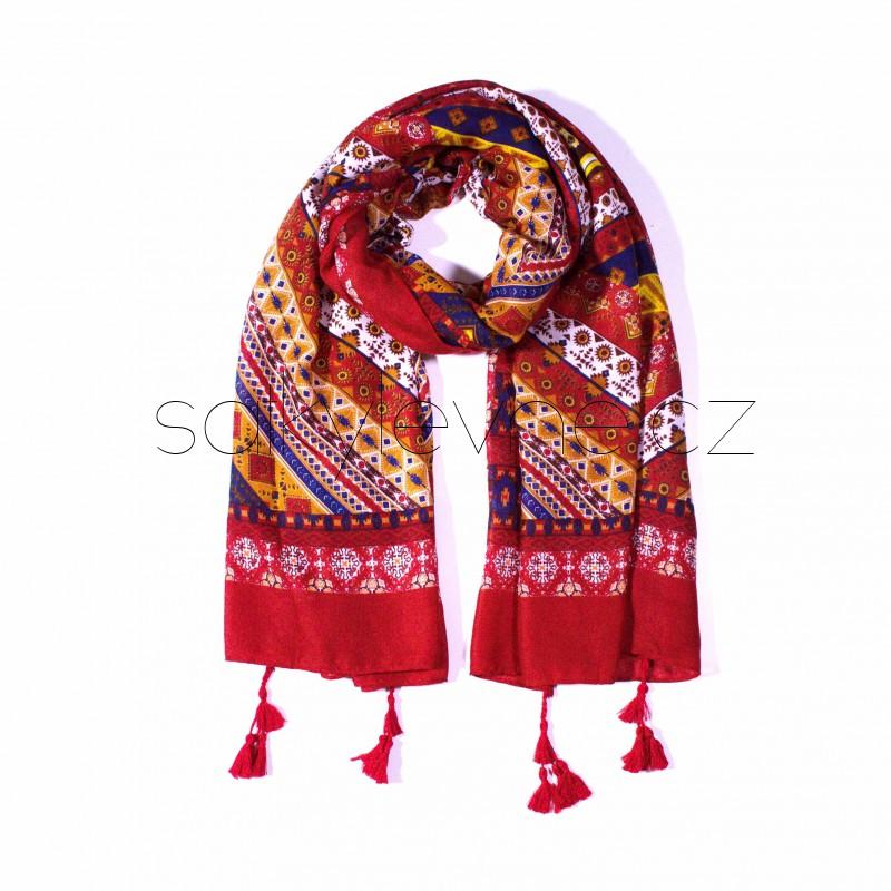 extra velký šátek s třásněmi orient 2236 (1)