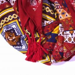 extra velký šátek s třásněmi orient 2236-2 (1)