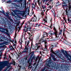 čtvercová šála deka zimní 2365-1