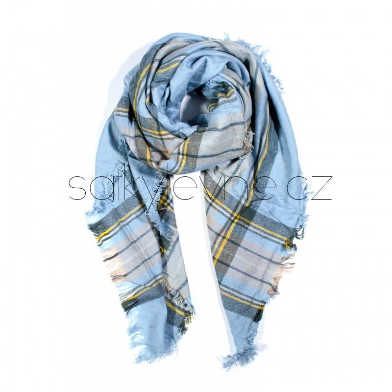 čtvercová šála deka zimní 2366