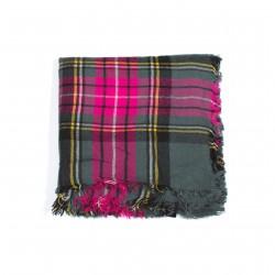 čtvercová šála deka zimní 2368-2