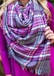 zimní šály na krk blanket maxi šála