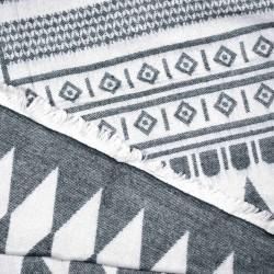 čtvercová šála deka zimní 2377-2