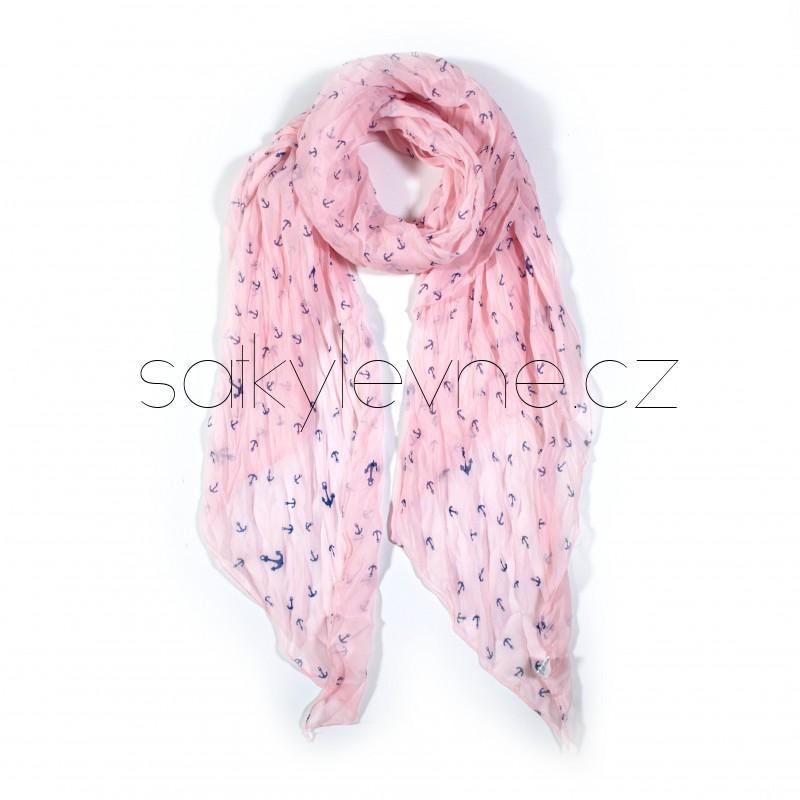 dlouhý šátek na krk kotvičky 2858 (1)