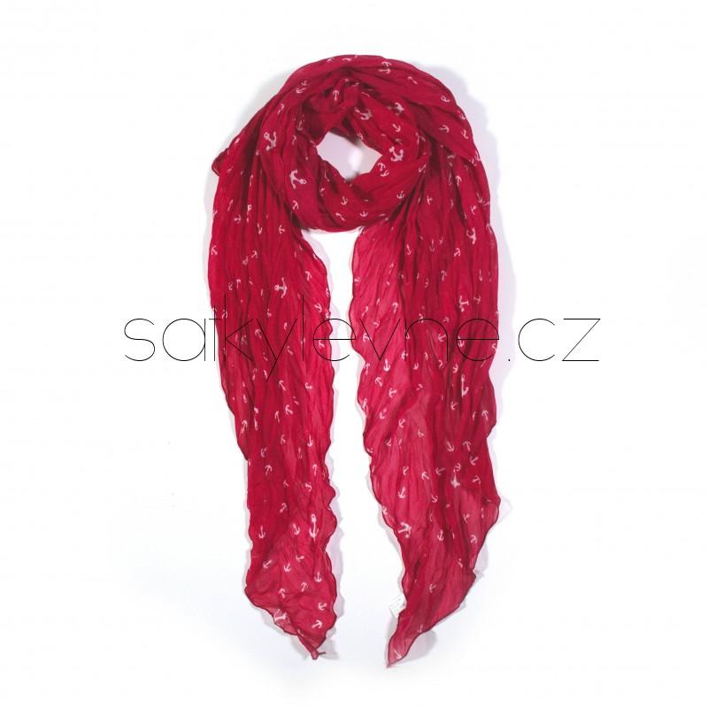 dlouhý šátek na krk kotvičky 2859 (1)