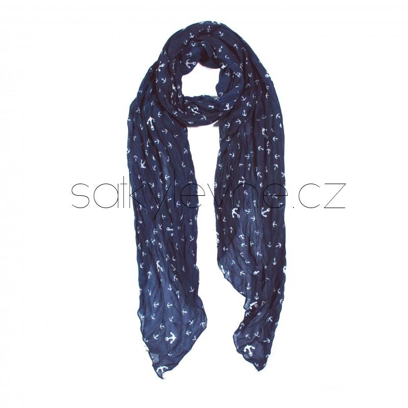 dlouhý šátek na krk kotvičky 2860 (1)