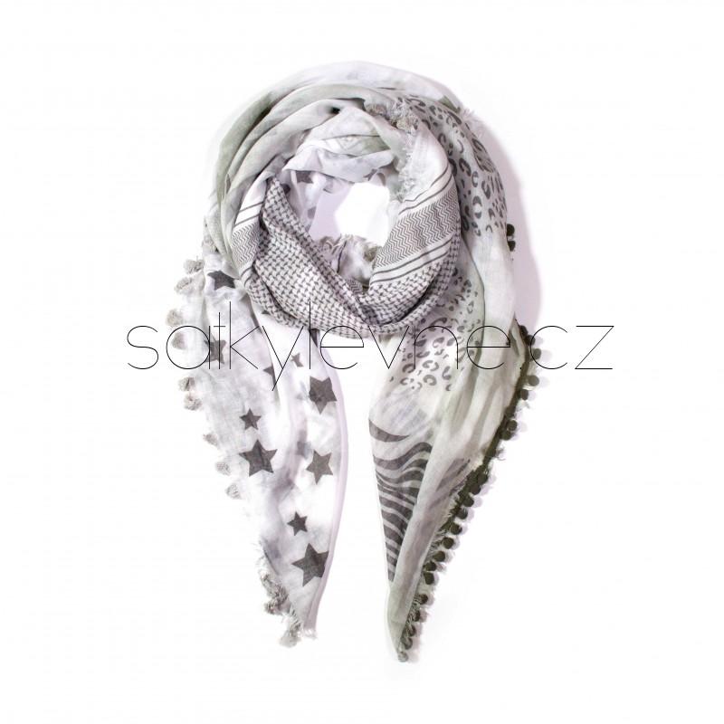 šátek na krk se vzorem dlouhý nekonečný 3028 (1) (1)