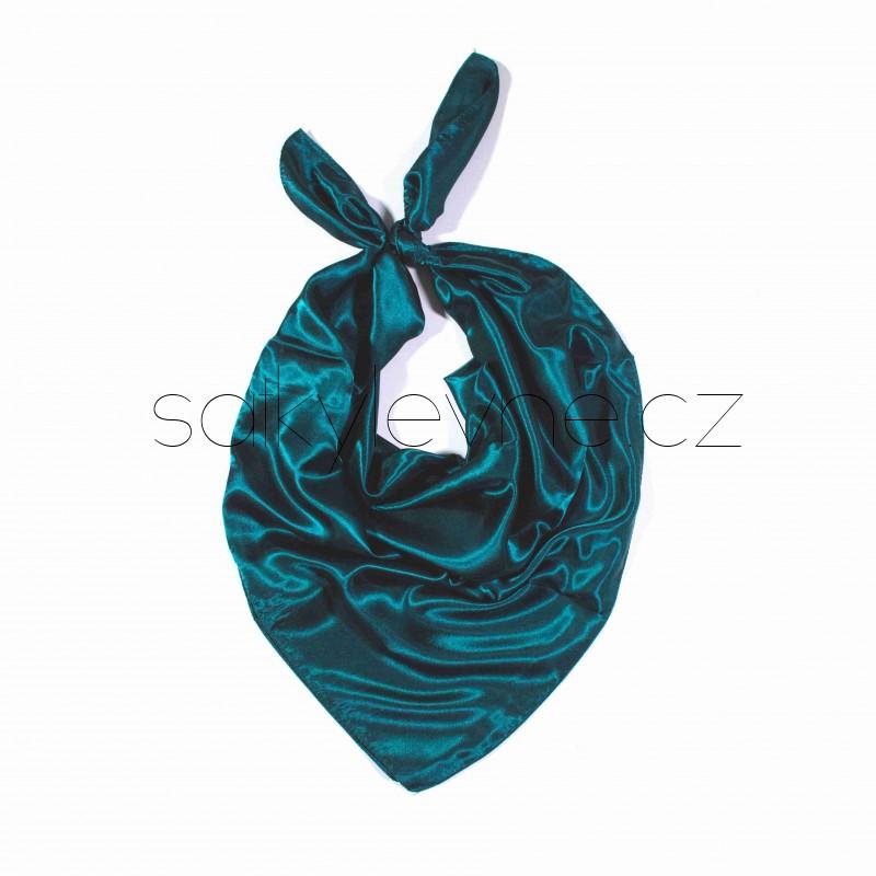 saténové šátky jednobarevné 90cm 90cm  (25) (1)