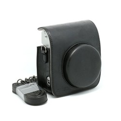 instatní fotoaparát instax fujifilm černé kožené poudro mini 90 camera case BK black (1)