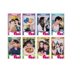 instatní fotoaparát instax fujifilm fotopapír hello kit rámeček 10ks mini hello kit white frame polaroid náplně  (2)