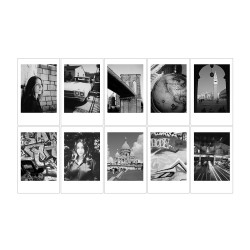 instatní fotoaparát instax fujifilm fotopapír černobílý rámeček 10ks mini black and white monochrome polaroid náplně (3)