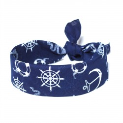 šátky do vlasů bandana námořnický vzore tmavě modrý (2) (1)