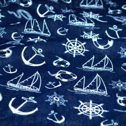 šátky do vlasů bandana námořnický vzore tmavě modrý (3) (1)