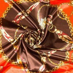 čtvercový saténový šátek na krk (52) (1)