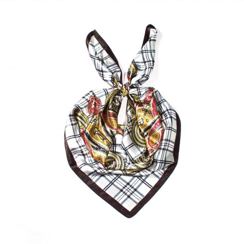 čtvercový saténový šátek na krk (33) (1)