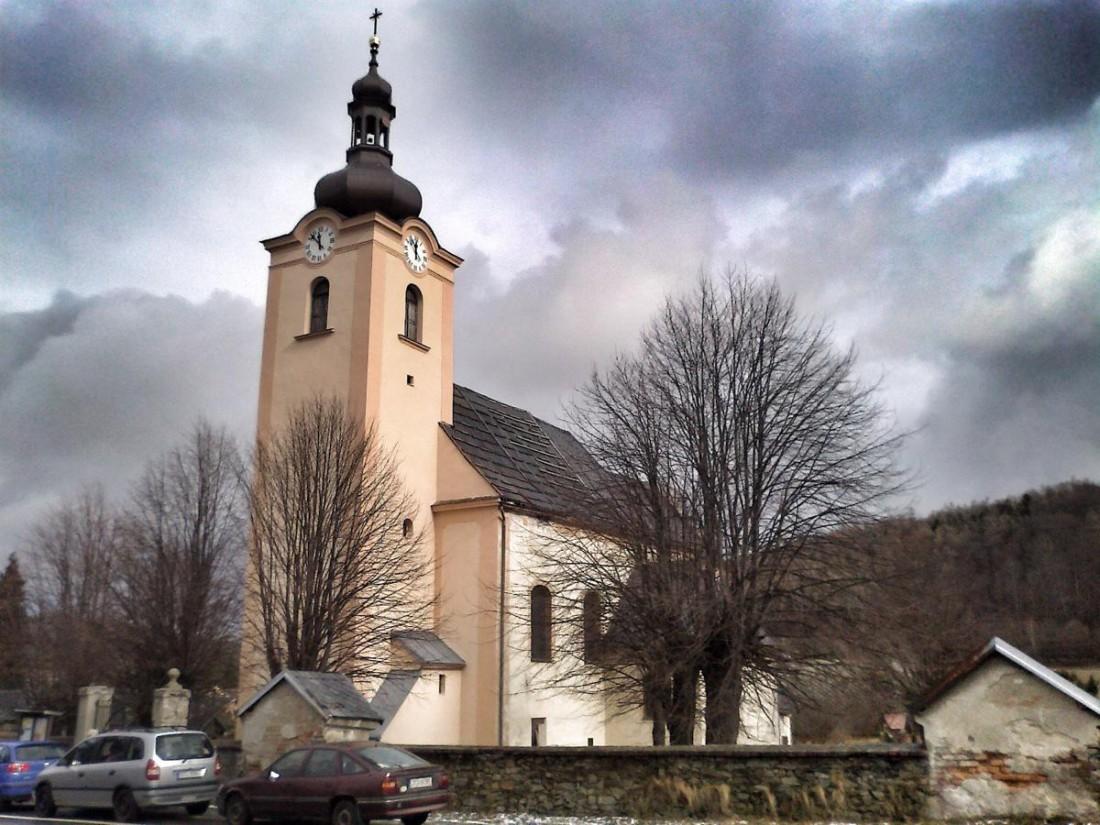 Třemešná - kostel sv. Šebestiána