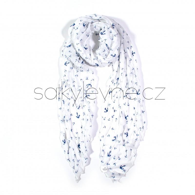 dlouhý šátek na krk kotvičky 2857 (1)