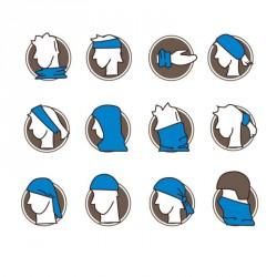 multifunkční šátek jak nosit