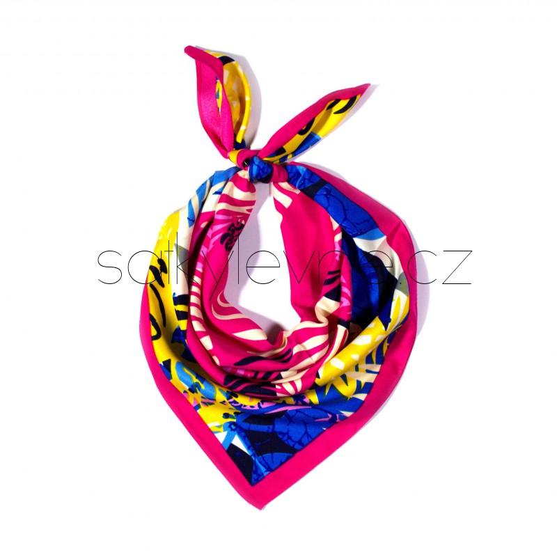 malý šátek na krk typu letuška  (19)