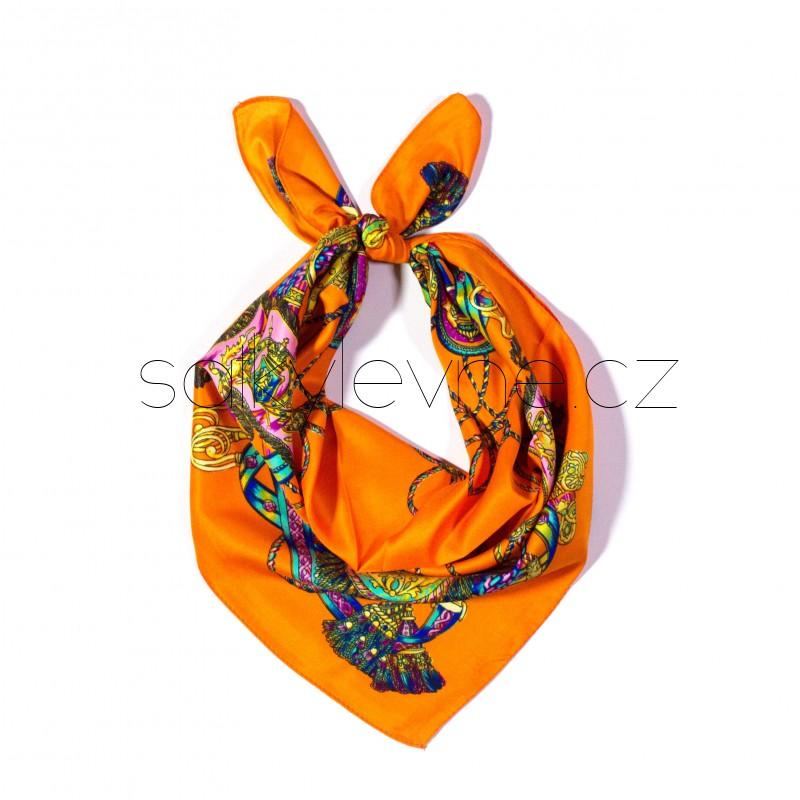 malý šátek na krk typu letuška  (39)