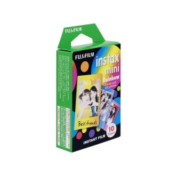 instatní fotoaparát instax fujifilm fotopapír duha rámeček 10ks mini rainbow frame polaroid náplně (1)