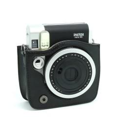 instatní fotoaparát instax fujifilm černé kožené poudro mini 90 camera case BK black (3)