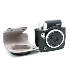 instatní fotoaparát instax fujifilm černé kožené poudro mini 90 camera case BK black (5)