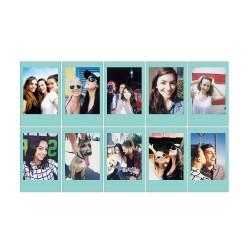 instatní fotoaparát instax fujifilm fotopapír modrý rámeček 10ks mini sky blue frame polaroid náplně (4)