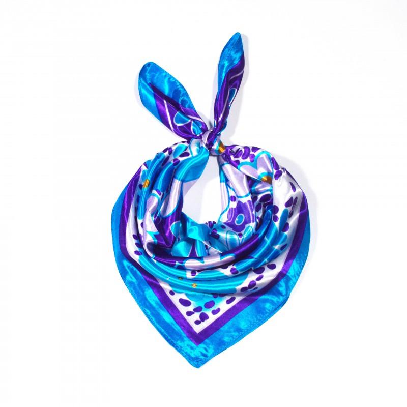 čtvercový saténový šátek na krk (7) (1)